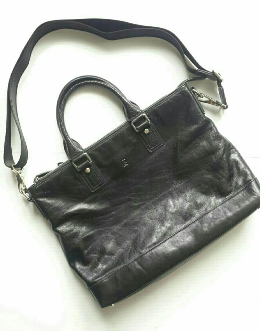 Preloved Tas Bag PIERE CARDIN Hitam Kulit Original 69af1238be