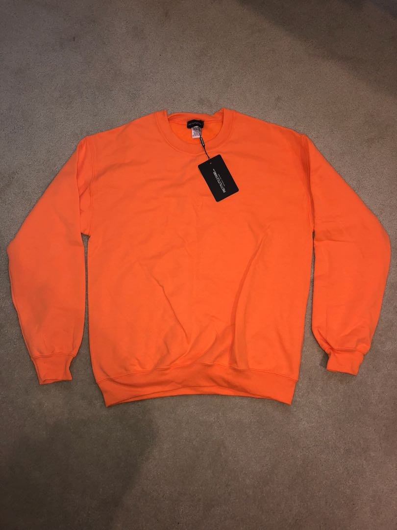 Pretty Little Thing orange sweater