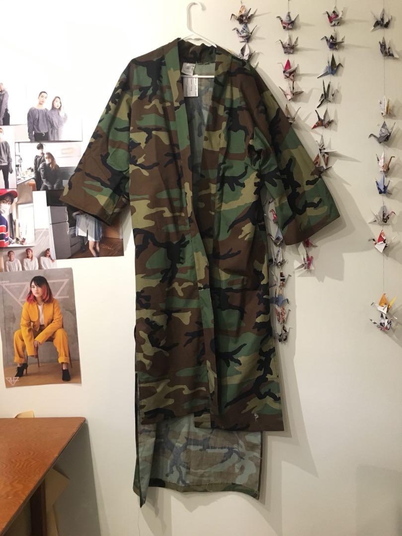 PRICE DROP: camouflage kimono jacket
