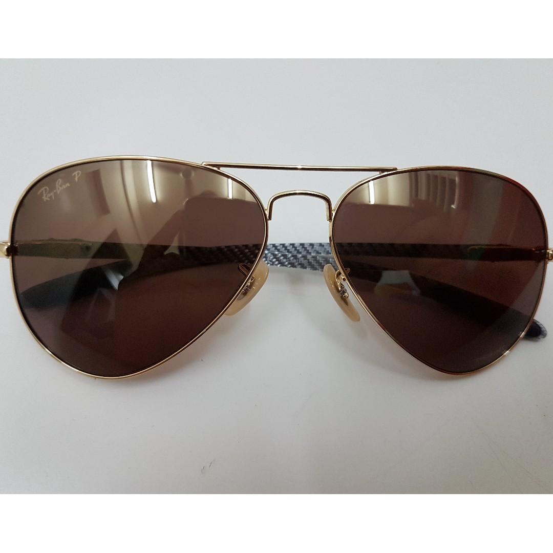 183365d41b Ray-Ban Gold RB8317 Chromance Sunglass