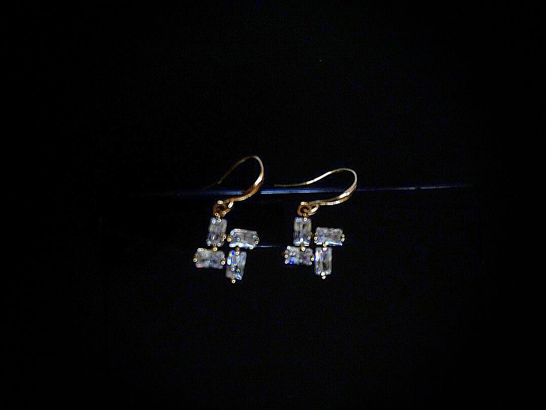 Rectangular Wheeled Earrings