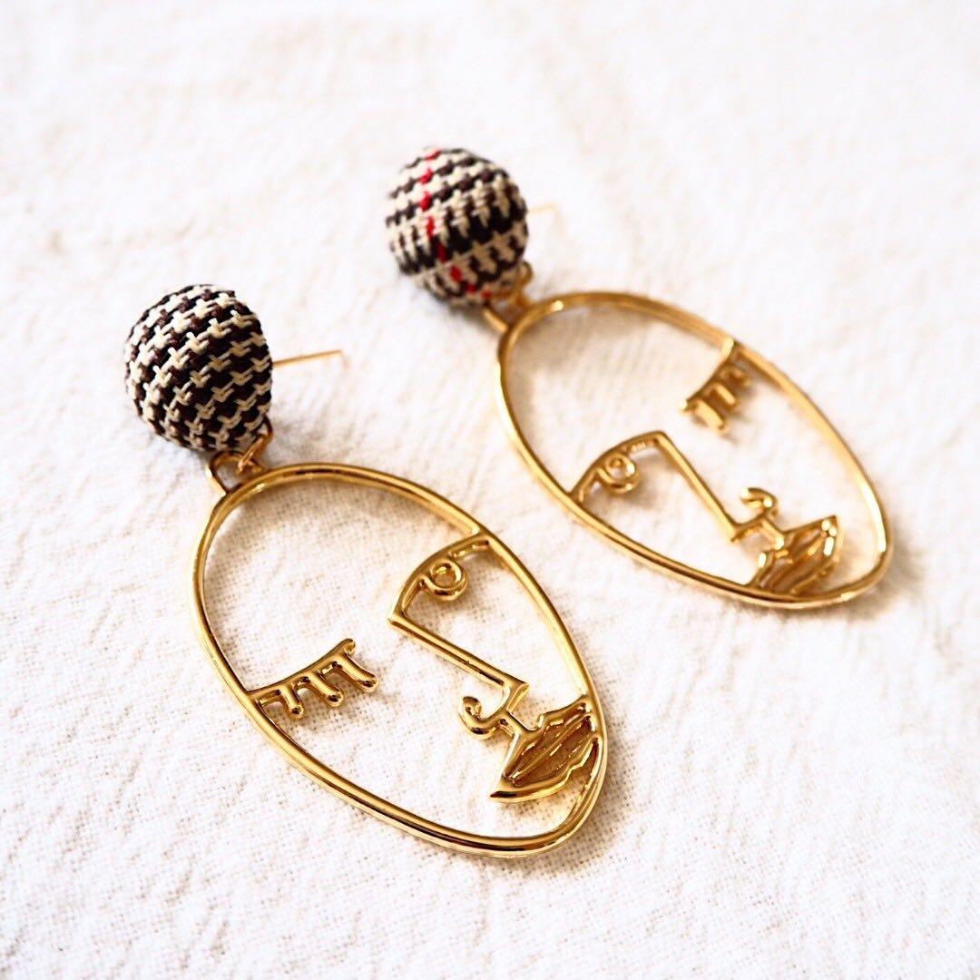 *restocked* ANTHONY FACET EARRINGS (BUTTON)