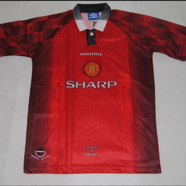 competitive price 56d46 3d15d Retro Manchester United 1996 - 1998 home jersey, Sports ...