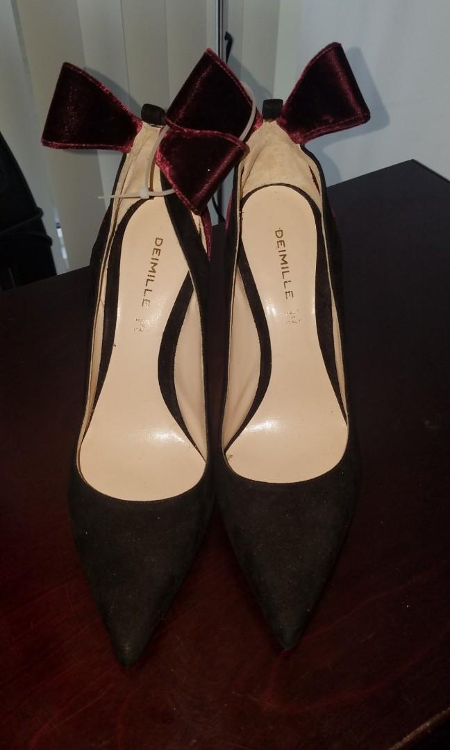 Size 40 Deimille Italian Suede Heels