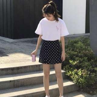 紅鶴短袖韓風白色上衣 #女裝半價