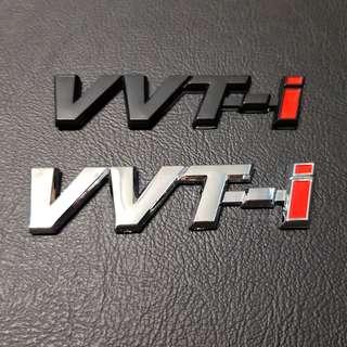 Toyota Car Rear Emblem Logo vvt-i