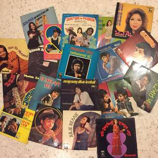 70's Vintage Malay EPs 45s Records Vinyl