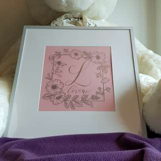 Mother's Day - Foiled & Framed artwork (Great for graduation, birthdays, anniversaries and special occasions!) CUSTOMISABLE