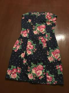 Small Tube Floral Tube Denim Dress (bought in U.S.)