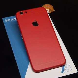 iPhone貼膜-紅色(啞光)