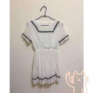 🚚 日本雪紡洋裝