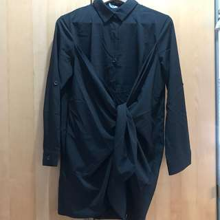 🚚 CORSAGE 設計款 黑色長袖襯衫