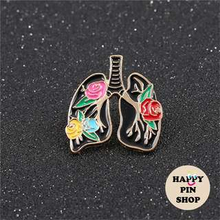Rosy Lungs Pin (Floral Print Series)