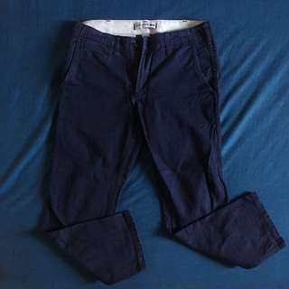 Uniqlo Navy Blue Chino Pants