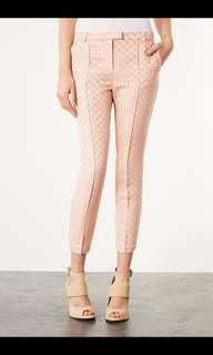 Topshop Tile Print Cigarette Trousers