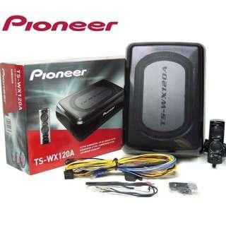 「TS-WX120A」先鋒 PIONEER 8吋超薄型主動式重低音 內建擴大機大功率 送線組 8吋 重低音