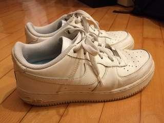 Nike Air Force 1 White 全白 (US6.5/UK6/EUR39/24.5cm)