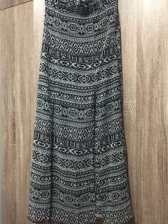 Forever21 high waisted maxi skirt