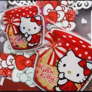 Self Adhesive Cookie Wrapper - Hello kitty bottle