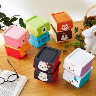 <🇯🇵日本預購> 日本製 Tsum Tsum 小收納盒(一套兩個)
