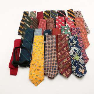 All sorts of imported authentic ties bought in the States