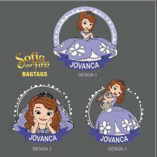 Personalised Bagtag & pouch - Sofia The First