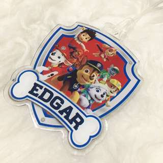 Personalised bagtag / luggage tag - Paw Patrol