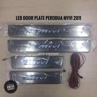 Led Door Sill Plate Perodua Myvi 2011-2015