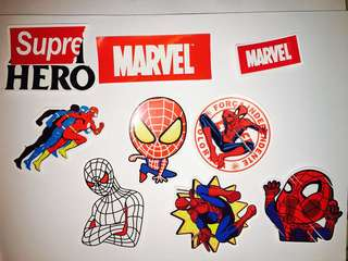 Marvel Spiderman Flash logo Stickers