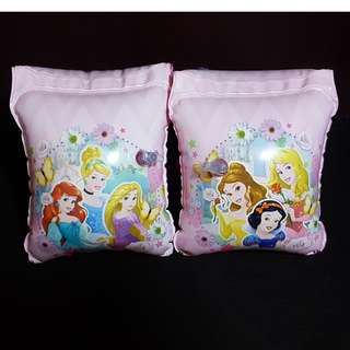 (Free normal postage) Disney Princess Pink Inflatable Swimming Arm Band Float