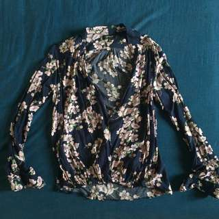 Cotton On Floral Long-sleeved Top