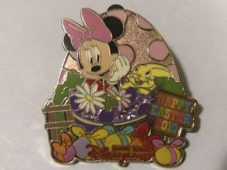 香港 迪士尼 徽章 Disney Pin  Happy Easter 2010 米妮