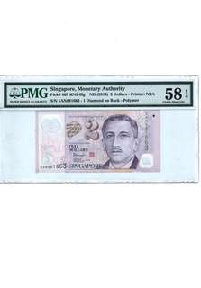 $2 PORTRAIT SERIES PRINTING ERROR GHOST PRINT PMG 58EPQ