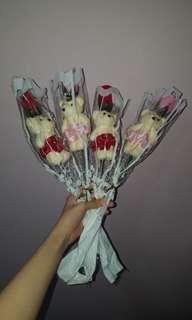 Bear Flower Rose Bouquet
