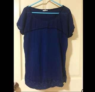Esprit Navy Blue TOP with side slits