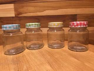 Toples Gingham 300 mL / Jar Kaca / Toples Kaca