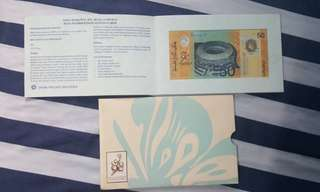 RM 50 notes Commonwealth 1998