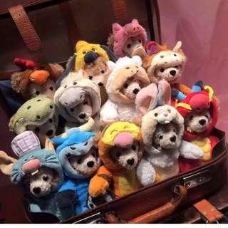 蝕讓 全新 上海迪士尼樂園 十二生肖 Duffy 絨毛娃娃公仔