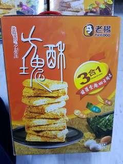 ✈大玩台灣代購✈台灣老揚3合一方塊酥禮盒540g
