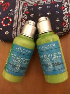L'OCCITANE body lotion35ml*2