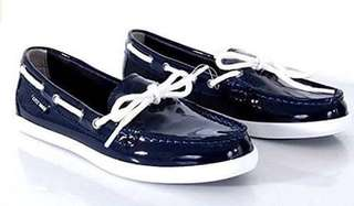 Cole Haan nontucket camp women's patent leather shoes