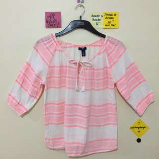 ❗️REPRICED❗️GAP peach and white cotton top