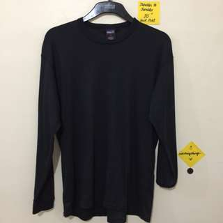 ❗️REPRICED ❗️Plain Black Long Sleeved Fitted Top