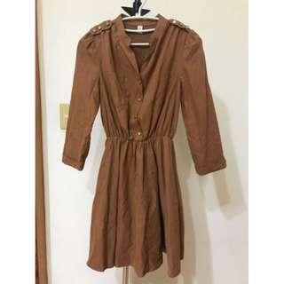 🚚 正韓 長袖洋裝 含半長內襯裙