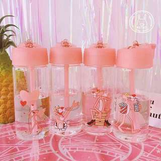 (預購)日系可爱卡通玻璃瓶水杯 — 大號 / 小號