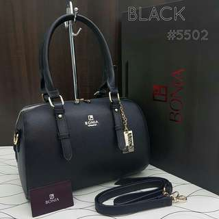 Bonia Elegant Sophia Boston Bag Black
