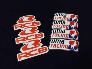 STICKER UMA RACING & RACING BOY (Y15ZR / LC / RS / YAMAHA)