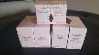 Charlotte Tilbury's Magic cream, Night cream and Eye rescue