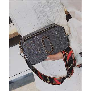 [PO] Ladies Starry Glitter Small Crossbody Bag