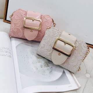 [PO] Ladies Mini Lace Crossbody Chain Bag